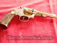 Smith & Wesson Model 1903 Hand-ejector, 1st Change (Target Grips) 32 S&W Long caliber Nickel-finish Revolver