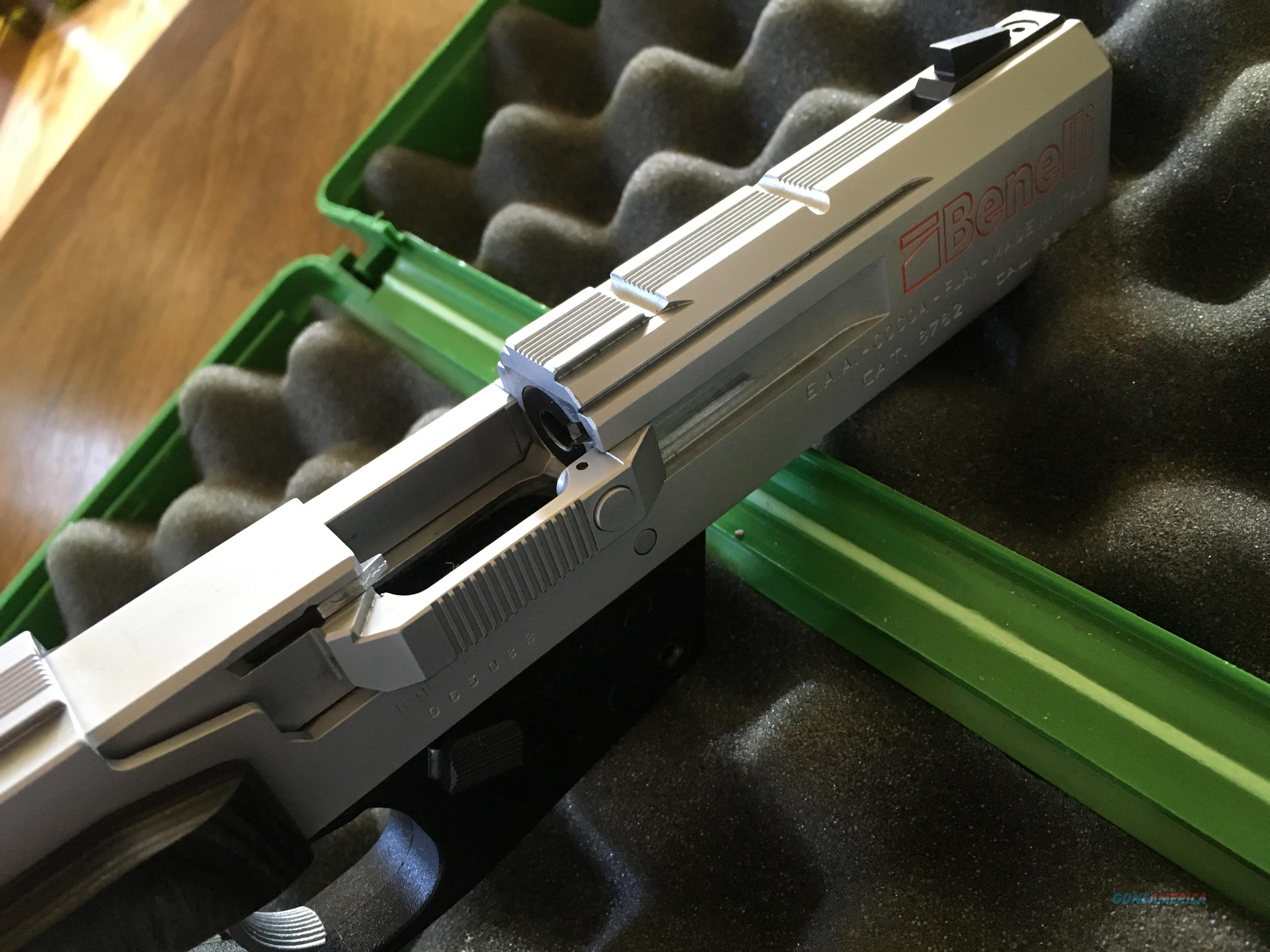 Benelli mp95e nickel semi automatic target pistol 22lr with two 6