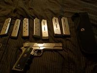 CUSTOM  STAINLESS TAURUS 1911 .45 ACP PISTOL  8RD  WITH 7 WILSON COMBAT 8RD MAGS