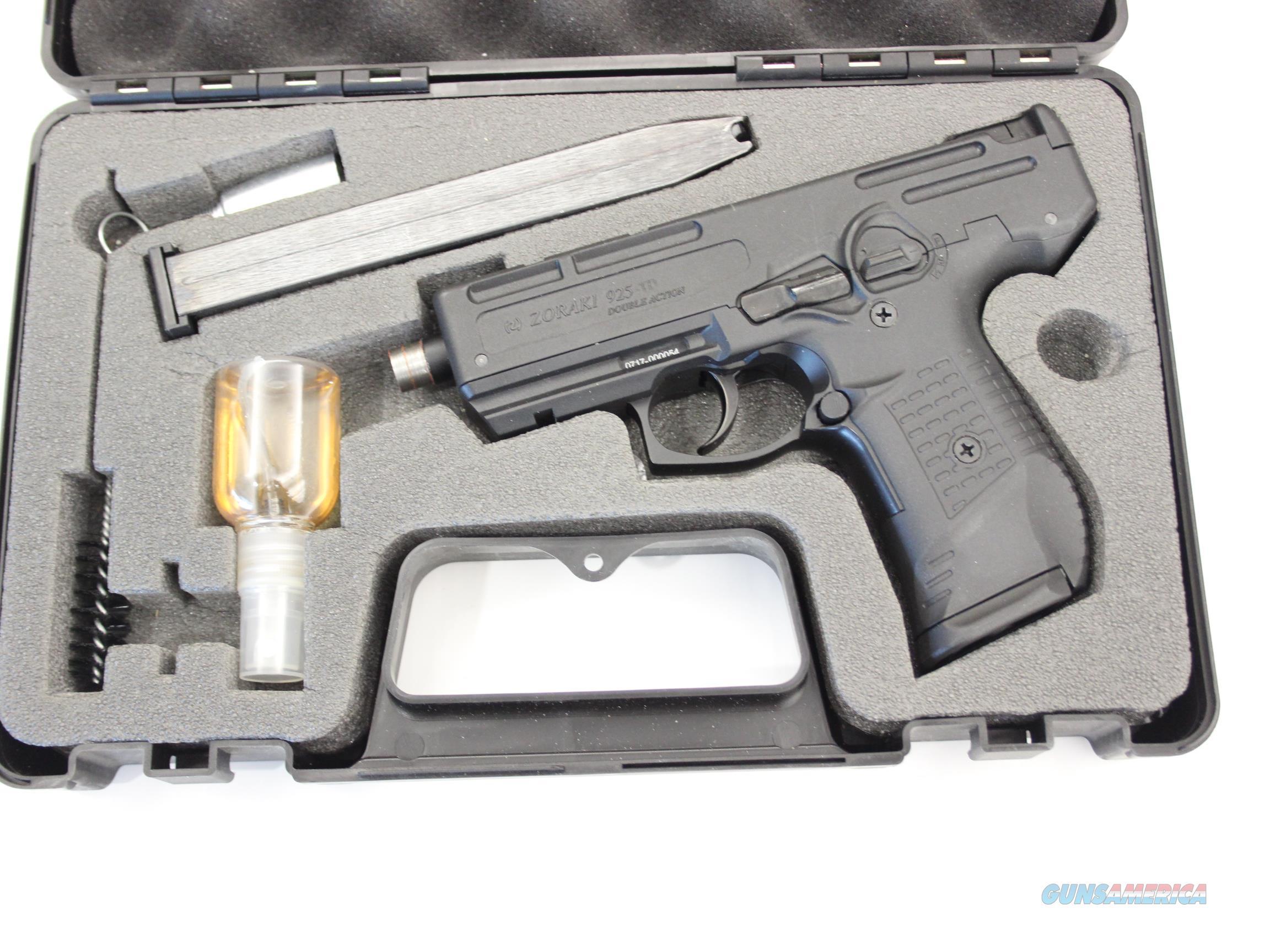 Zoraki M925 Black - Full Auto Machine Pistol Front Firing Blank Gun