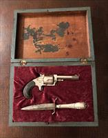 Pre 1900 Antique Pistol & Silver Dagger With Box