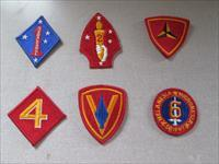 WWII USMC division Patches