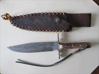 Colt Damascus Bowie Knife with Sheath