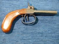 Double Barrel Continental Percussion Antique Pistol