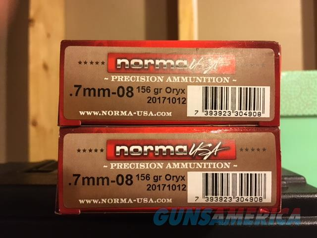 Norma 7mm- 08 American PH Oryx Ammo - 156 gr  for sale