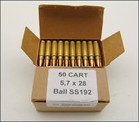 FNH ss192 RARE Ammo FN 5.7 x 28 Five-seveN 100 RND