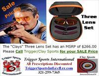 Decot Hy-Wyd Sporting Glasses Plano Clays 3 Lens Package w/Case On Sale