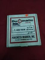 Ponsness-Warren Duomatic 16 Gauge Tooling Kit