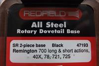 Redfield SR 2 pc. rotary dovetail base Remington 700 long & short actions, 40X, 721, 725