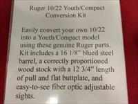 Ruger 10/22 Youth Conversion Kit: Barrel & Stock
