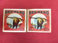 Vintage Red Head Collectible Shotgun Amunition Boxes