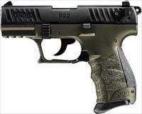 Walther P22Q, .22 LR, Olive Drab Green