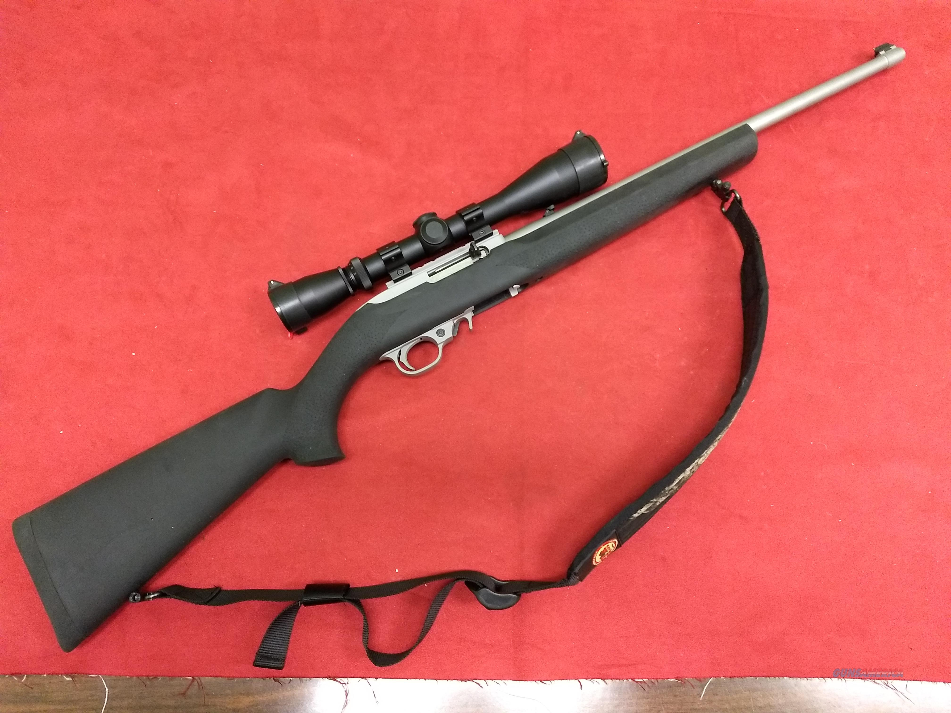 Ruger 10/22 Stainless,  22 LR, Hogue Stock, w/ Leupold Scope!