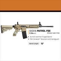 "SIG 516 Patrol 556 16"" Full FDE. Ambi safety, mag release, and charging handle. FREE shipping"