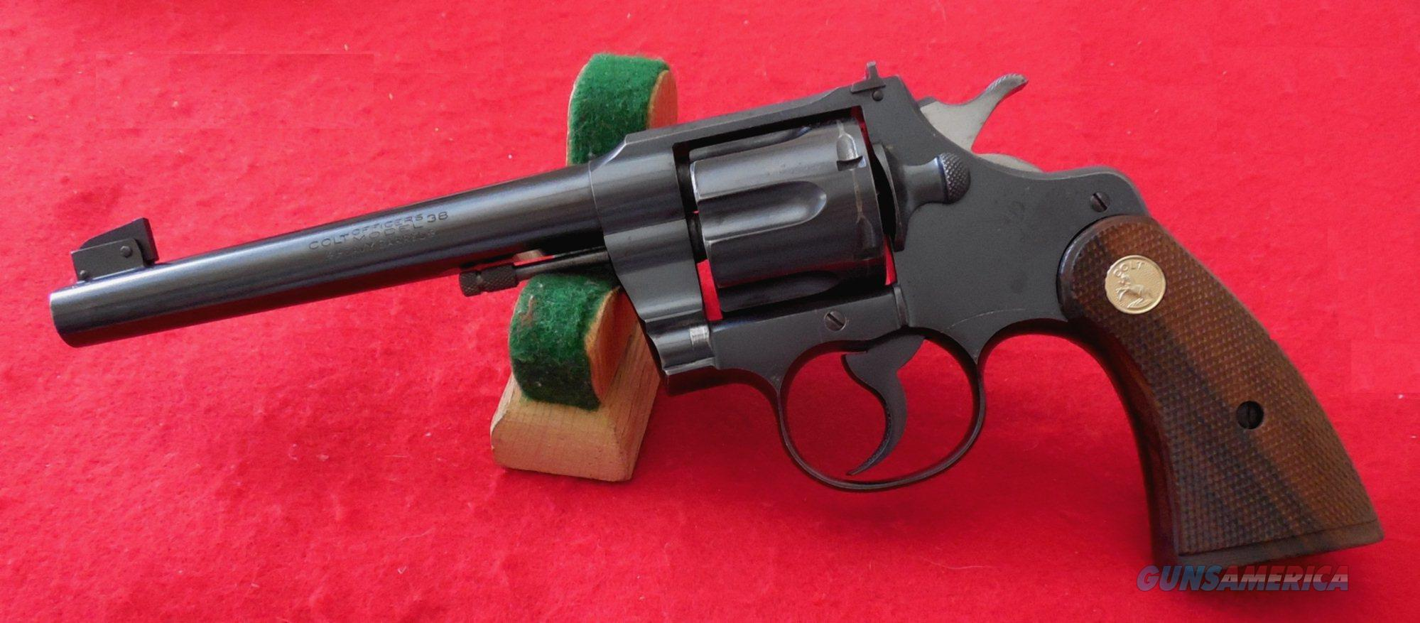 Pre-WWII Colt Officers Model Target Revolver