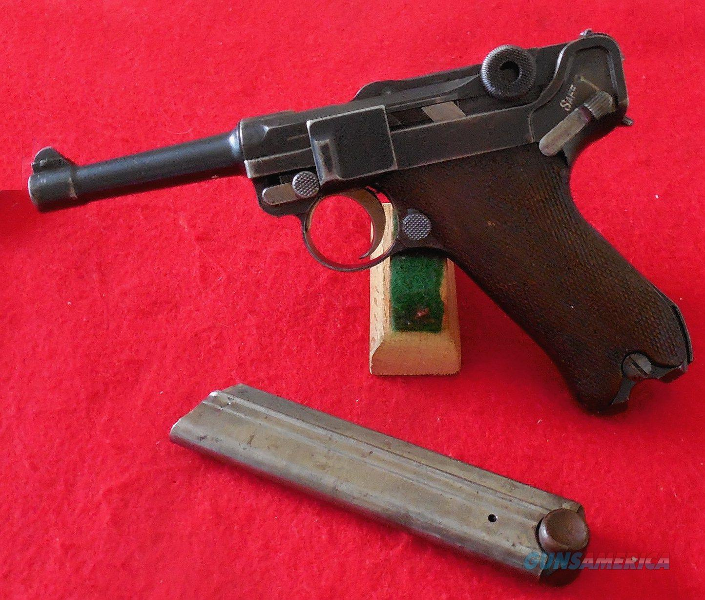 "Scarce DWM ""Safe & Loaded"" 1923 Commercial Model Luger Pistol"