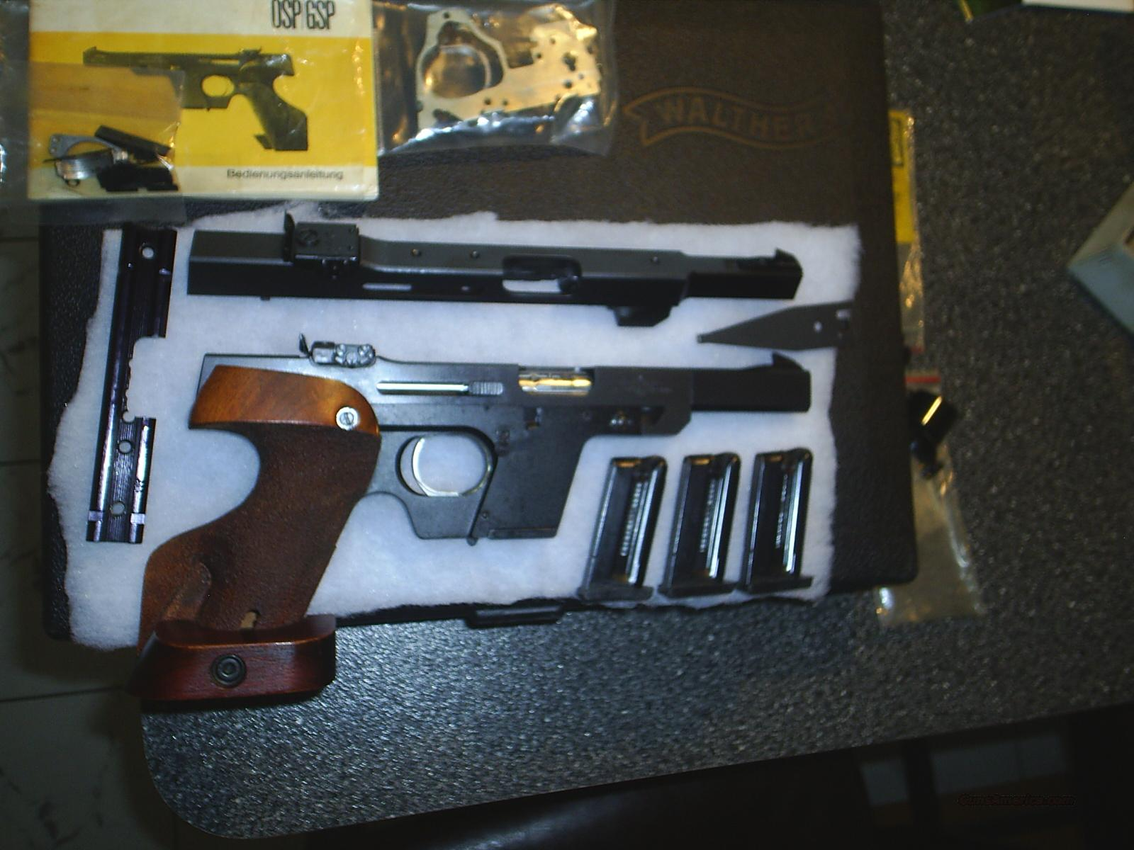 walther gsp 22lr target pistol with accessories for sale rh gunsamerica com Walther OSP Walther Target Pistols