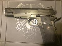 "Springfield Loaded 1911 .45 ACP ""The Operator"" Pachmeyer grips, Mag rail, Trijicon night sights w/ original box"