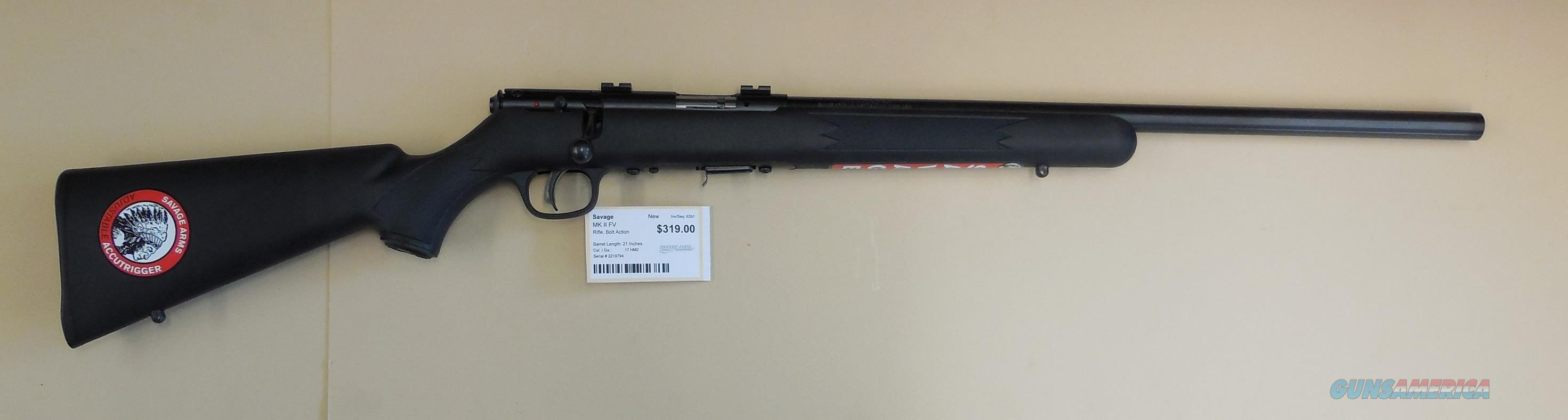 SAVAGE MARK II FV .17HMR