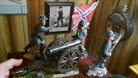 Bradford Exchange Confederate Civil War Cannon w/ Soliders