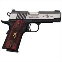 BRO 1911-380 380ACP BLACK LABEL MEDALLION PR0 NIGHT SIGHTS