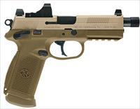 "FN  FNX-45 Tactical  FDE 45ACP NS 15RD  5.3"" BBL  3 Mags   ( FREE SHIPPING)"