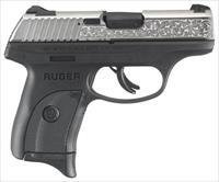 RUGER LC9S 9MM  7-SHOT NICKEL ENGRAVED SLIDE (TALO)