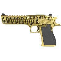 Magnum Research MK19 Desert Eagle 357 Mag Titanium Gold with Tiger Stripes