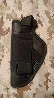 Black Small Arms Pistol Belt Holster - Right Hand