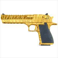 Magnum Research Desert Eagle 44 Mag Titanium Gold with Tiger Stripes