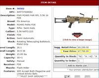 SAW M249 PARA FDE - AT DEALER COST (BLACK & BALLISTA ALSO AVAILABLE)