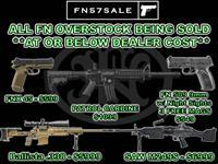 Liquidating Excess FN Firearms **AT OR BELOW DEALER COST** Limited Supply