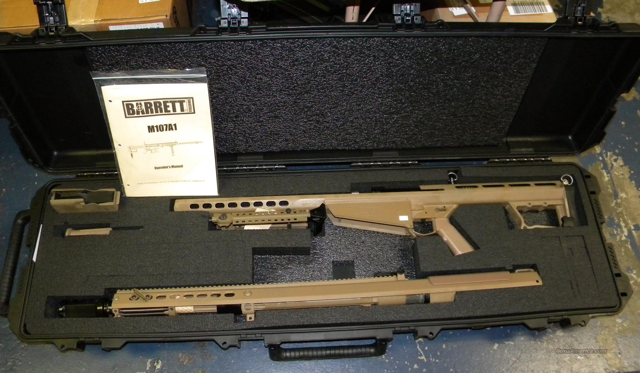 BLOW OUT SALE!! Barrett M107A1  50 BMG In Flat Dark Earth
