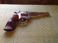 Smith &Wesson 357 nickel plated model 19-4 Revolver   (1972)  6 inch barrel length