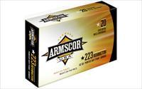 Armscor 223 Rem  62 Grain  Bonded Pointed Soft Point  20 Round Box AC223-4N - $9 Shipping On ANY Size Order