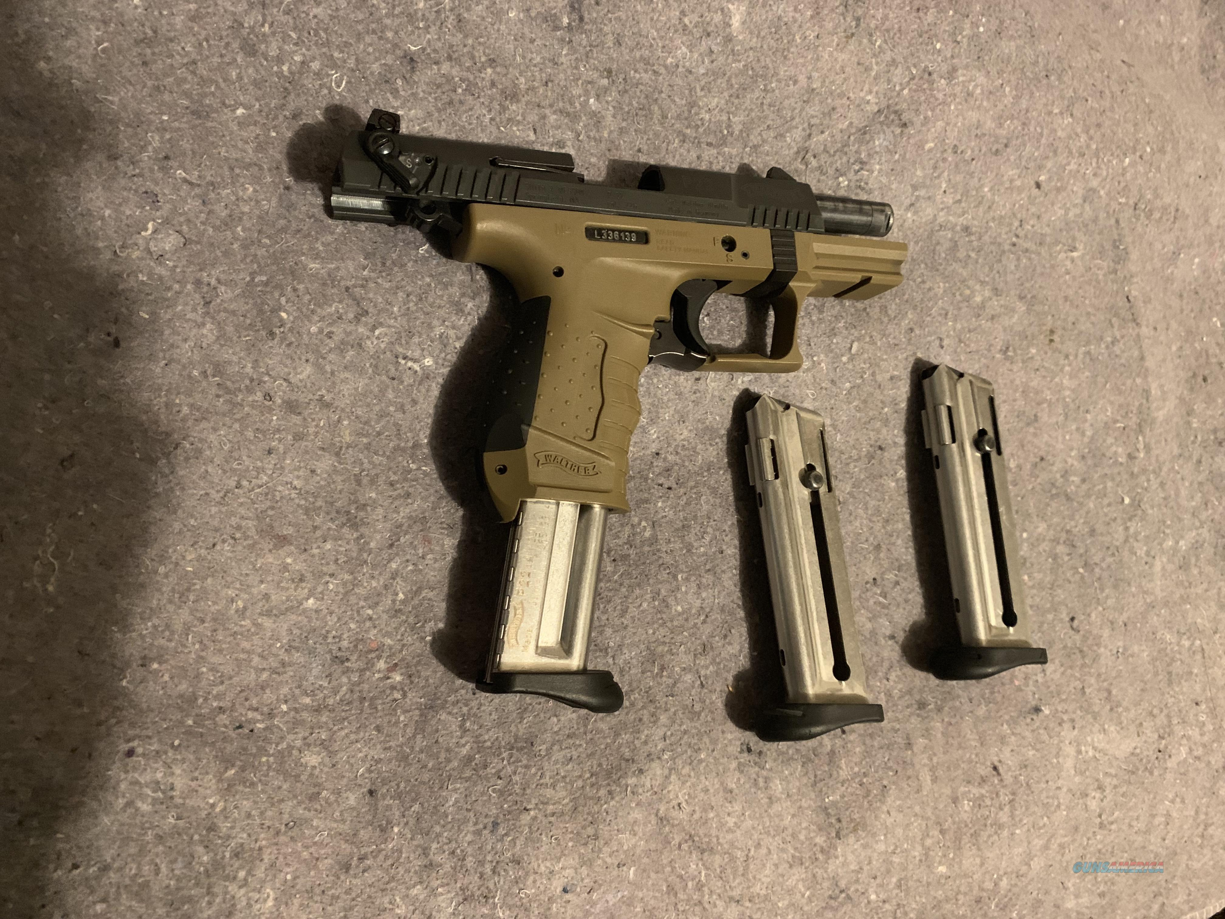FDE Walther P22 Pistol 22lr with 3 magazines