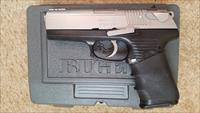 "RUGER P97DC 45ACP, 4.2"" BARREL, S.S. UPPER, BLACK FRAME, HOGUE GRIP, MANUAL DECOKER"