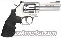 "Smith & Wesson 617 Rimfire Revolver 160584 22 LR, 4"", Rubber Grip, Satin Stainless Finish, 10 Rd, Squre Butt"
