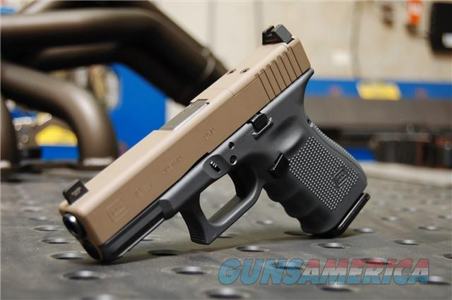 X-Werks Glock 19 Gen 4 MOS Glock Grey FDE Suppressor Night Sights
