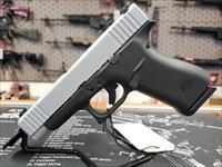 "Glock PA485SL701 G48 Compact 9mm Luger Double 4.17"" GNS 10+1 Black Polymer Grip/Frame Silver PVD Slide"