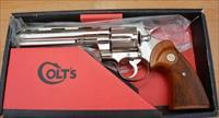 MINT IN BOX 1970 COLT PYTHON BRIGHT NICKEL 357 MAG