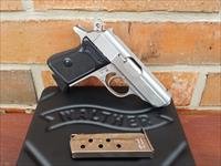 "WALTHER PPK 380 ACP 3.3"" Pistol Stainless 2- 6 RD Mags. BLACK SYNTHETIC GRIPS Manual Safety New In Box JAMES BOND CLASSIC!!!!"
