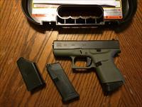 Glock 43 BFG Battle Field Green 9mm Single Stack 2 Mags Great Concealed Carry NIB Free Layaway