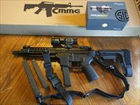 "CMMG GUARD AR 15 AR15 Pistol 9mm 8"" NEW MODEL!! SIG SAUER ROMEO 6H Red Dot SB Tactical SBA3 Adj Pistol Brace 3 Magazines Takes Glock Mags RADIAL DELAYED BLOWBACK Billet Alum. NIB FREE LAYAWAY Magpul QD Sling Magpul Pro Steel Flip Up Sites"