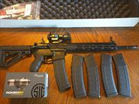 Radical Firearms AR 15 AR15 300AAC Blackout Sig Sauer Romeo 6H Red Dot FREE LAYAWAY  XTRA UPGRADES MAGPUL PRO STEEL FLIP UP SIGHTS Alum Handguard NIB (5) 40 Rd. Mags Hogue Rubber Butt Stock Pachmayr Pistol Grip