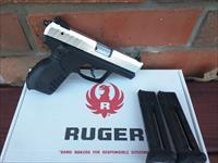 Ruger SR 22 22LR 2 Tone Alum. Slide, (2) 10 Rd Mags, 3 dot White Sights Used LIKE NEW in BOX FREE LAYAWAY