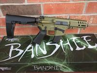 "CMMG MK57 BANSHEE Five-Seven GUARD AR 15 AR15 5.7x28 FN Mags 5"" NEW MODEL!! BAZOOKA GREEN 20 Rd Takes FN 5.7x28 Pistol Mags RADIAL DELAYED BLOWBACK Billet Aluminum, TAIL HOOK Adj Brace NIB FREE LAYAWAY SALE!!"