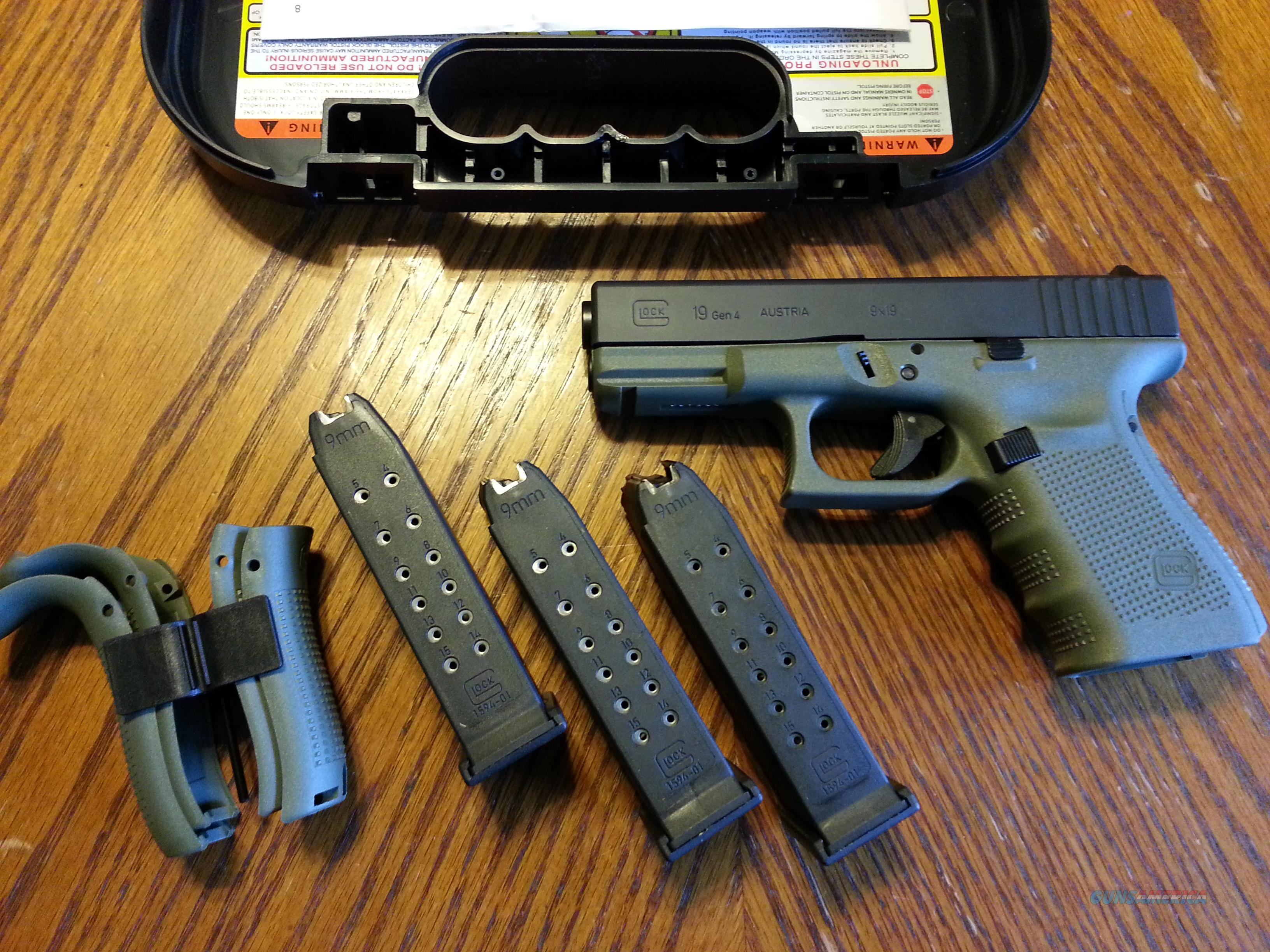 glock 19 gen 4 bfg battle field green 3 15 rd for sale