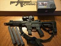 "CMMG GUARD AR 15 AR15 Pistol 45ACP 8"" NEW MODEL!! SIG SAUER ROMEO 6H Red Dot SB Tactical SBA3 Adj Pistol Brace 4 Magazines Takes Glock Mags RADIAL DELAYED BLOWBACK Billet Alum. NIB FREE LAYAWAY Magpul QD Sling Magpul Pro Steel Flip Up Sites"