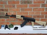 ARSENAL AK47 AK 47 SLR-107R 7.62x39mm 16.33in , Iron Sights & Optics Side Rail,, 2 Mags Total 1-30 rd Pmag and 1-5 rd Mag, comes with Slant Muzzle Brake,Desert Tan NEW IN BOX